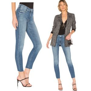 MOTHER Looker Ankle Fray Jean in One Smart Cookie